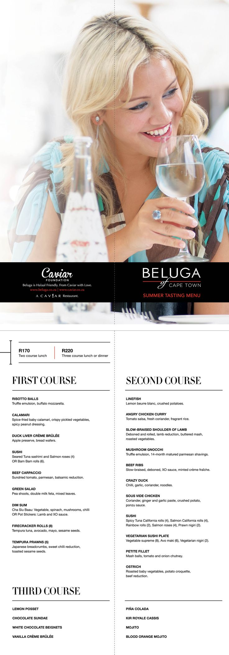 Beluga Cape Town Summer Tasting Menu 2015