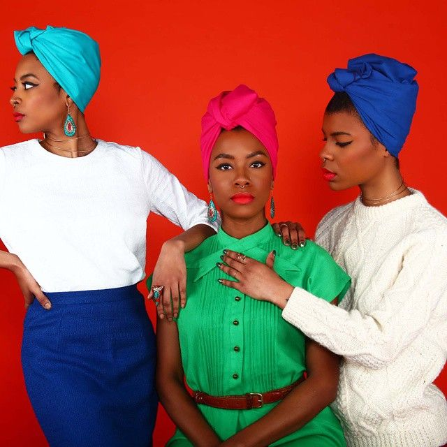 Check out the all new merchandise, headwraps and more, over @thewraplife Photos by @sirdexrjones Model: @gypsybruja + @thewraplife + @magicmamii Makeup: @charmaine_e #dexrjones  #thewraplife #headwraps