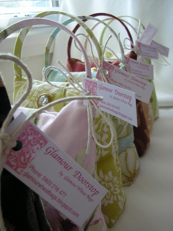 Handbag Doorstops, Beautiful sitting by the door!   © All designs Copyright of Glamour Wheat Bags™ 2010