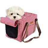 Bolsa de transporte para mascotas Transportín plegable para perro Portador Tela lona y Malla, Mascotas Plegable de Viaje Bolso para Perro (M: 36*20*24cm)