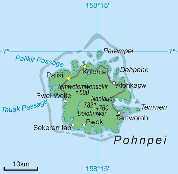 Pohnpei Island ◆Föderierte Staaten von Mikronesien – Wikipedia http://de.wikipedia.org/wiki/F%C3%B6derierte_Staaten_von_Mikronesien #Micronesia