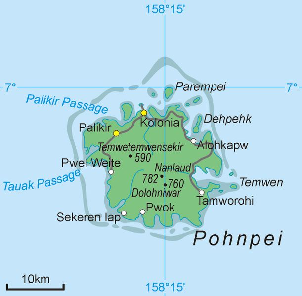 Pohnpei Island ◆Föderierte Staaten von Mikronesien – Wikipedia…