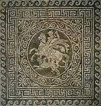 Mosaic floor - Olynthos, Greece -  432-348 BC