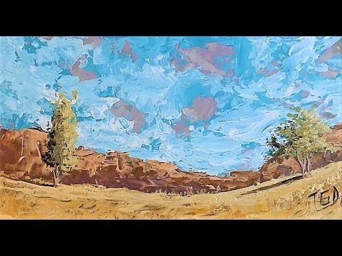 Tale of the Golden lands Timelapse landscape painting - YouTube