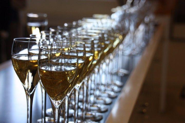 Champagner des Hauses Taittinger in Reims, Frankreich