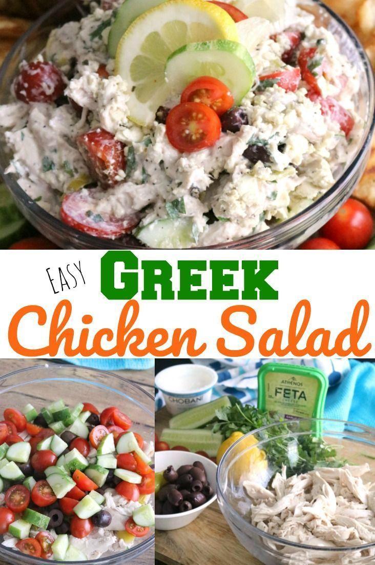 griechischer Salat mit Hühnerfleisch   – Yummy in my tummy – #Griechischer #Hü… – Einfache Salat Rezepte