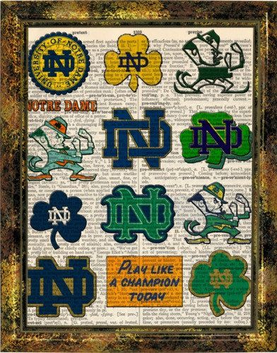 Check out this item in my Etsy shop https://www.etsy.com/listing/223427845/notre-dame-fighting-irish-logo-history