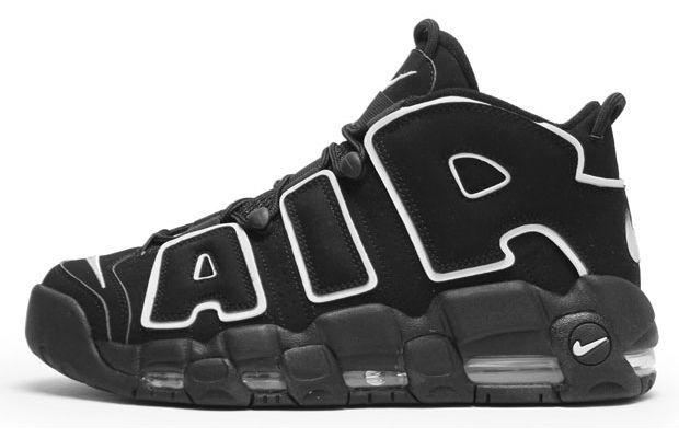 Nike Air More Uptempo  Year released: 1996    Complex says: Sneaker designers talk a lot about how well you can identify a shoe from a distance, whether you can tell what a particular model is from either in front of the TV or up in the cheap seats. Mission accomplished with the Scottie Pippen worn Air More Uptempo (and the lesser-priced — and lesser — Air Much Uptempo) whose giant AIR lettering was visible from space.