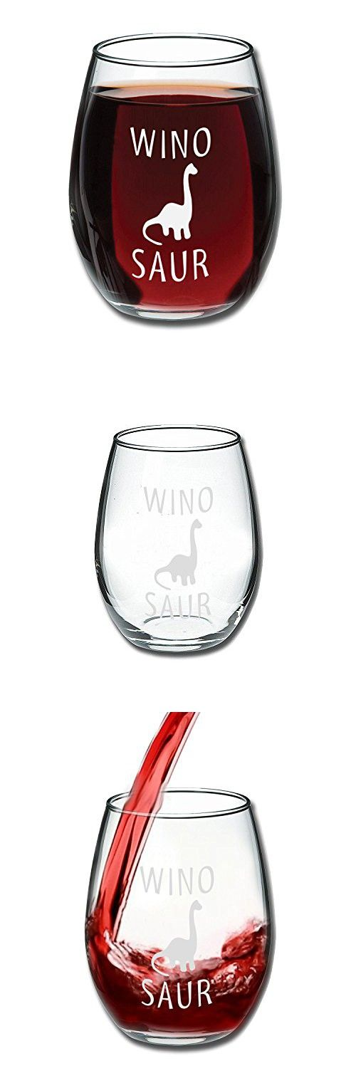 Funny Presents For Her Part - 30: Funny Winosaur Wine Glass 15oz - Unique Gift Idea For Her, Mom, Wife,