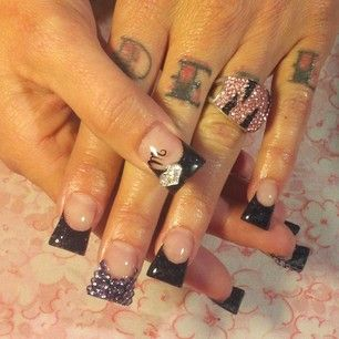 flared nails these are beautiful