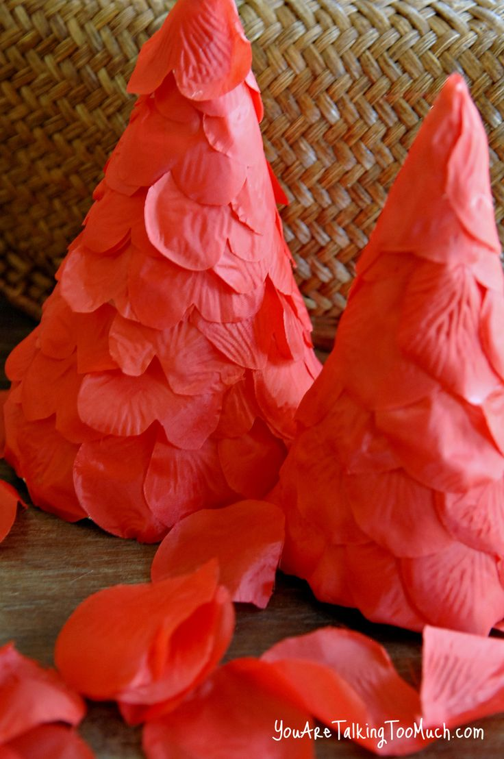 Great Dollar Tree Valentine's Day Craft. Rose Petal Trees! Easy and ONE.SINGLE.DOLLAR!