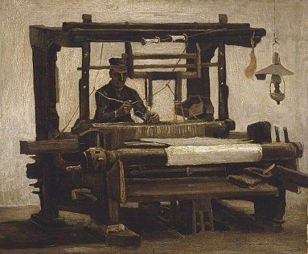 Weefgetouw met wever - Vincent van Gogh (1853 - 1890)