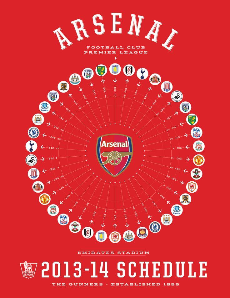 Arsenal 2013-14 Premier League Schedule