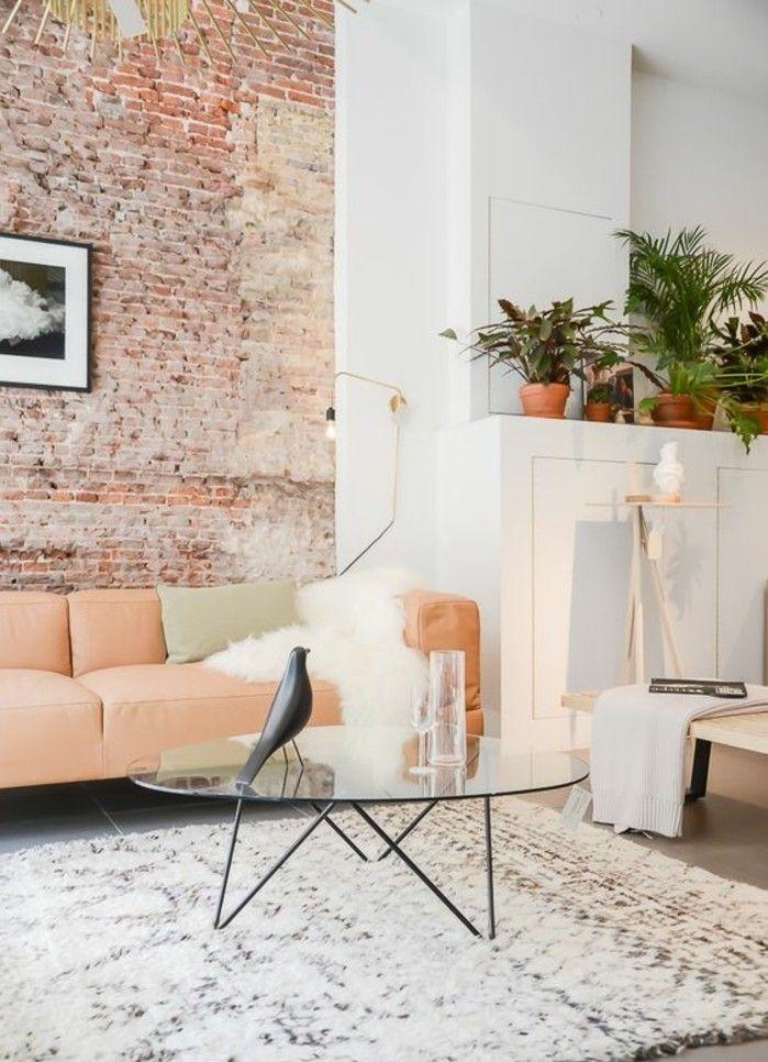 120 wohnzimmer wandgestaltung ideen wohnzimmer pinterest ziegelw nde wandgestaltung und sofa. Black Bedroom Furniture Sets. Home Design Ideas