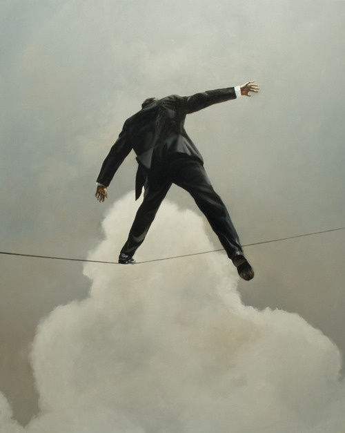 Eric Zener | tightrop walker | #modern #painting
