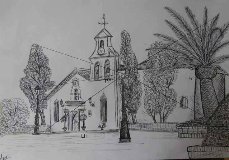 Se trata de un apunte urbano una de las iglesias de mi for Exterior a un punto de fuga
