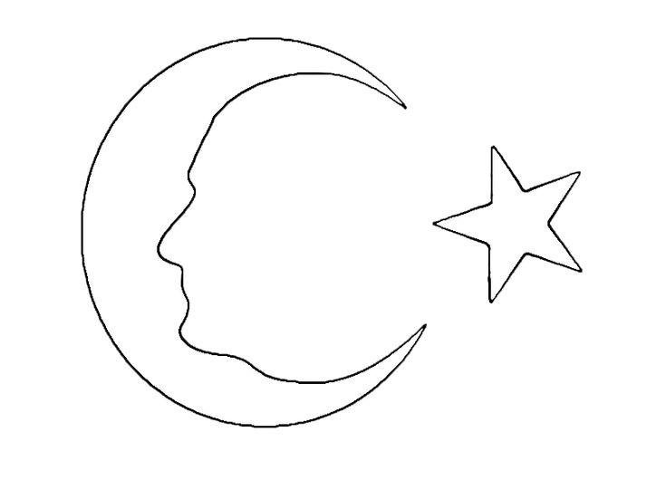 Atatürk şeklinde ay yıldız