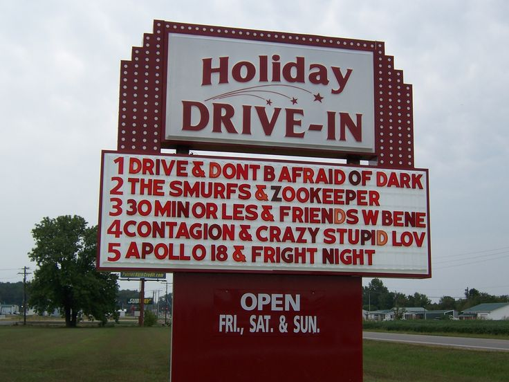 the holiday drivein located 3 miles west of rockport at