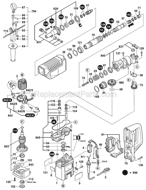 Bosch 11244e Parts List And Diagram