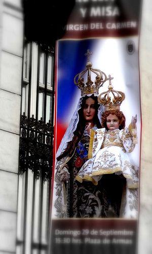 """Procesión Virgen del Carmen 2013. """"Madre de todos los Chilenos"""""""