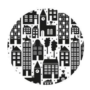 Cadeauzakjes Sint in the city zwart/wit 17 x 25 -