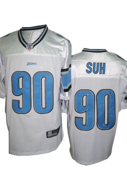 Ndamukong Suh Jersey, #90 Detriot Lions Aithentic NFL Jersey in White  Price :$20ID :4941