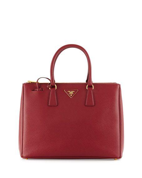 Prada Saffiano Executive Tote Bag Wine Cerise Bags Leather Hand Lining