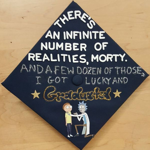 Image result for rick and morty graduation cap