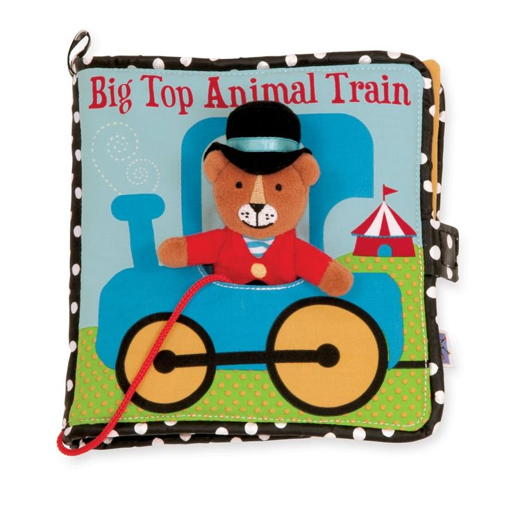 Big Top Animal Train Soft Activity Book