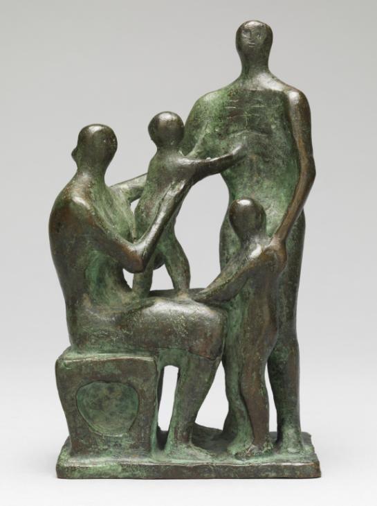 Henry Moore   'Maqueta de grupo de la familia' de 1945 -La Fundación Henry Moore.