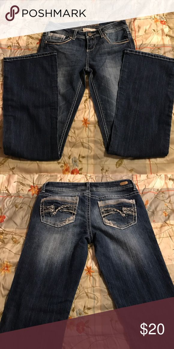 Red Camel Jeans NWOT. Dark colored jeans in perfect condition. Worn once. They are too short for me. red camel Jeans Flare & Wide Leg
