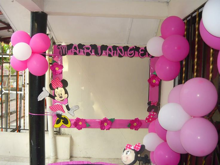 Big Frame To Take Pictures Minnie Mouse In Pink Mickey