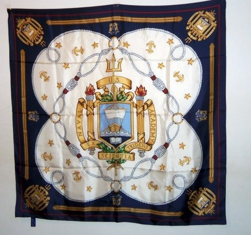 Beautiful 100% silk scarf from the US Naval Academy!