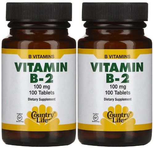 Country Life Vitamin B2 100 mg Tabs, 2 pk * You can find out more details at the link of the image.