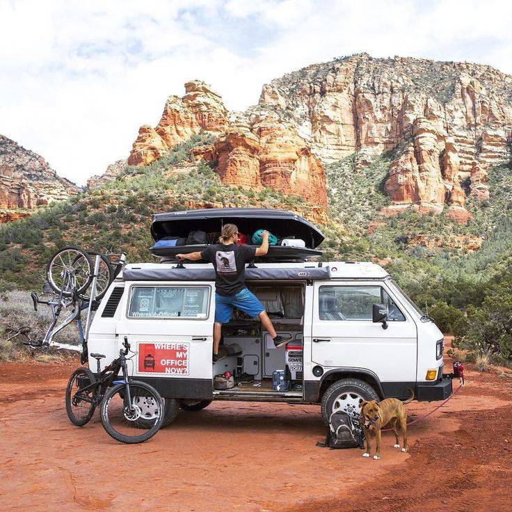 Vanlife gives us freedom of time and location to follow our passions of mountain biking surfing yoga and dance. These loves of ours are why we chose this lifestyle over three years ago and although we value and are on a path of simplicity the truth is we lug around a ton of gear including mountain bikes surfboards helmets backpacks bike pump camping gear hula hoops slackline fly fishing gear yoga mats yoga blocks and so much more. We recently upgraded our roof box and bike rack to @thule and…