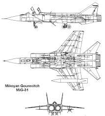 MiG-31 Orthographic Projection