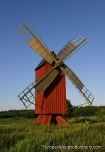A windmill in autonomous Åland Islands in Finland