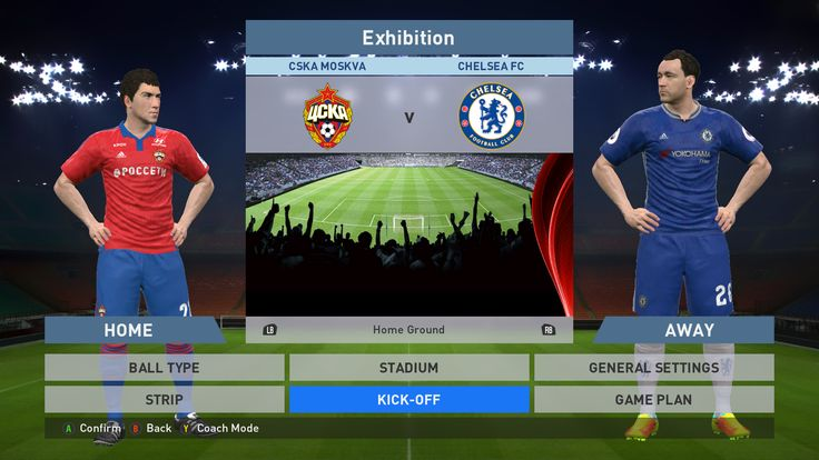 CSKA Moskva vs Chelsea FC, VEB Arena, PES 2016, PRO EVOLUTION SOCCER 2016, Konami, PC GAMEPLAY, PCGAMEPLAY