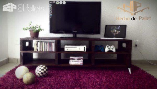 Centro De Entretenimiento / Pallet Entertainment Center Pallet TV Stand & Rack