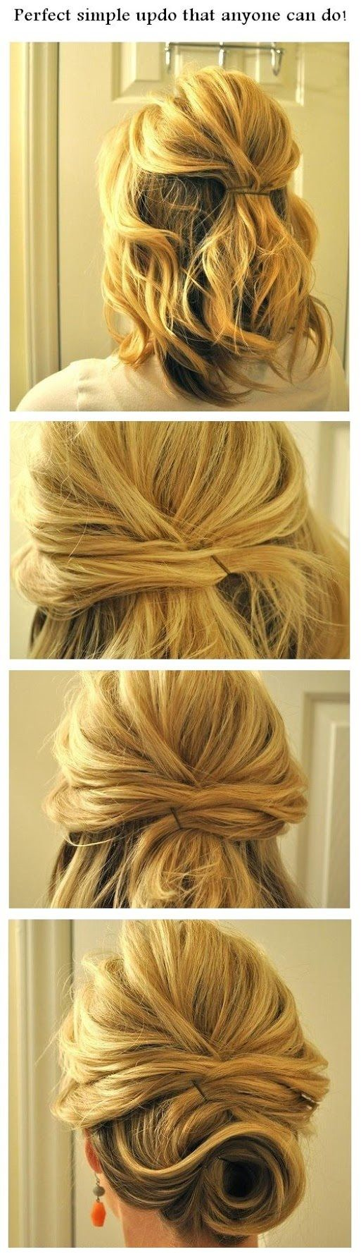 Perfect simple updo that anyone can do!