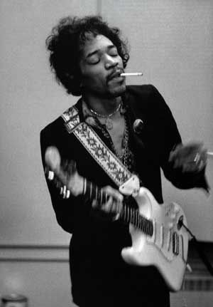 The legendary Jimi Hendrix. A while back, a music site I oversaw did a 50 Greatest Guitarists thing. To me, there could be only one possible #1. Jimi changed the way we look at the instrument more than any player who ever lived or, likely, ever WILL live. Stone free, baby!