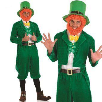 Adult Men S St Patrick S Day Green Leprechaun Fancy Dress