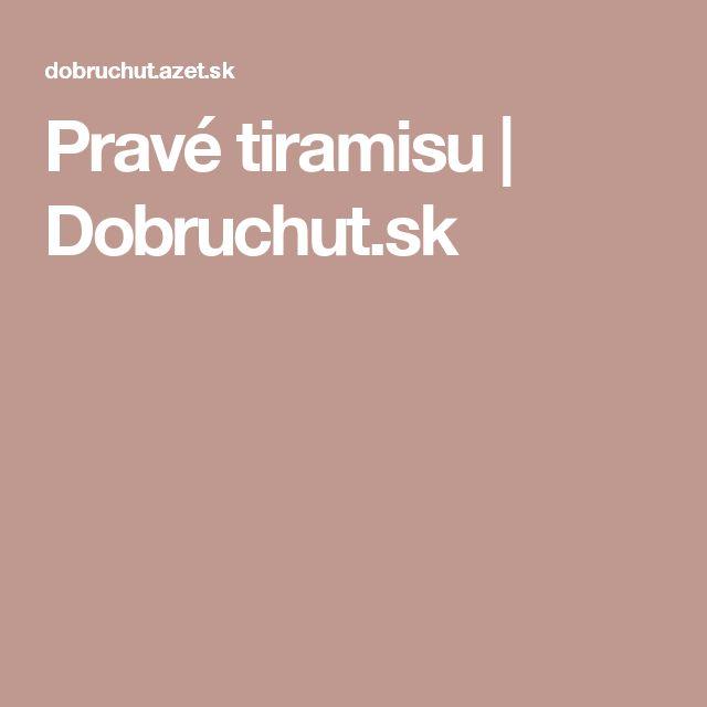 Pravé tiramisu | Dobruchut.sk