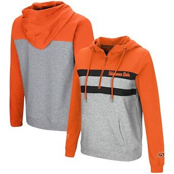 367ddeb15 Oklahoma State Cowboys Colosseum Women s Play the Game Quarter-Zip Pullover  Hoodie – Orange