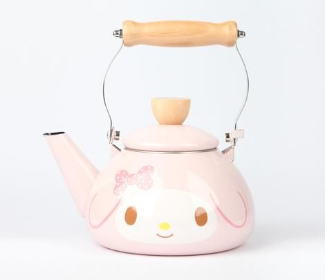 My Melody Enamel Kettle: Pink