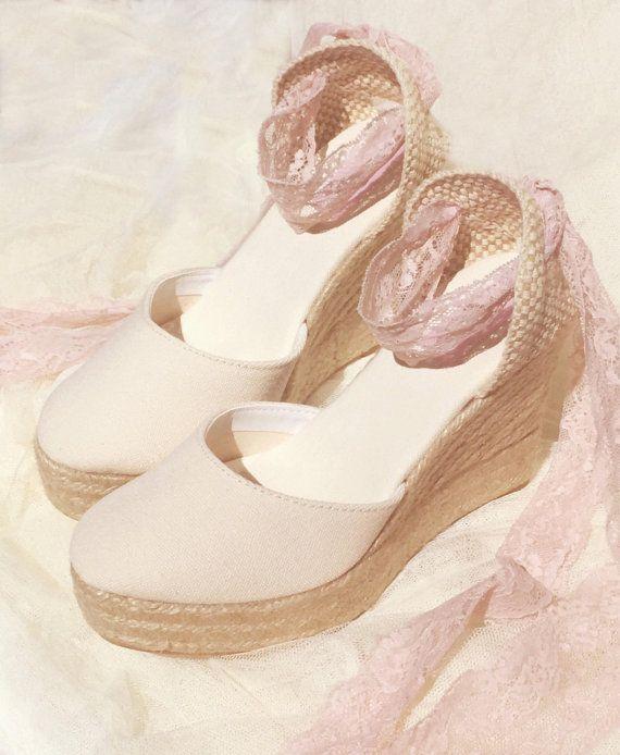 8c24efb6cfffd BOHOIBIZA Ivory Blush Pink Laces Up Espadrille, dance shoes ...