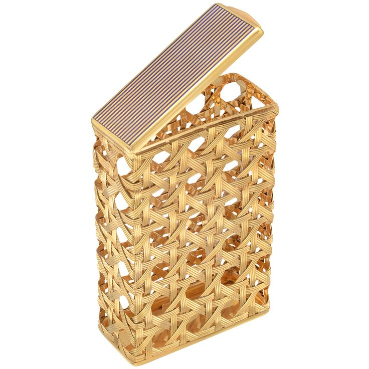 Estate Bulgari 18k Gold Open Weave Cigarette Case - I seriously might become a smoker so I can use this....I could just put credit cards in it, but that seems almost a waste;)