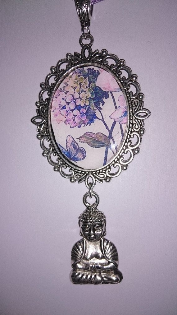 """french vintage Designers & Creations Jewellery Originals zen fairy necklace 'near the meditation Buddha flowers"""" ======================= shop => https://www.etsy.com/shop/frenchjewelryvintage?ref=l2-shopheader-name"""
