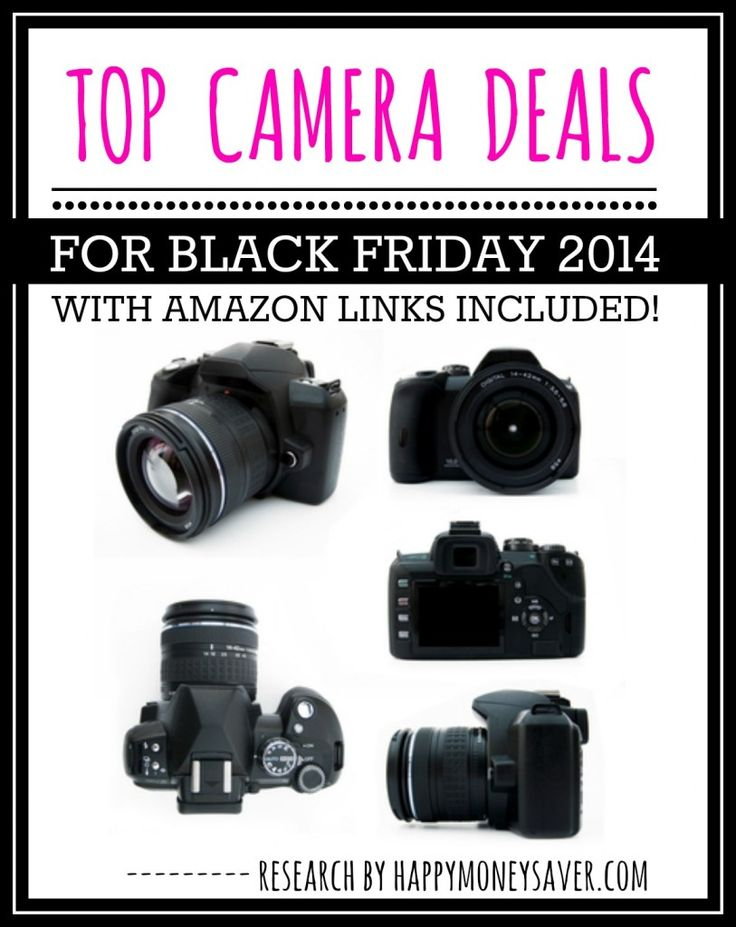 Top Camera Deals for Black Friday 2014 - Who needs a new camera? Is a Digital SLR Camera on your christmas list? See all the black friday camera deals on this one big post!