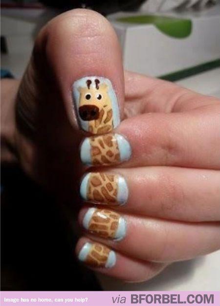 Cute giraffe nails @Emily Schoenfeld Harding